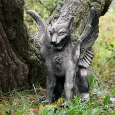 "18"" Caesar's Griffin Statue - Gargoyle Fiberstone Yard Art,  Outdoor or Indoor"