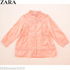 ZARA Girls Pink Embroidered Cut Out Lace Blouse/Shirt Size 2-3/3-4/4-5/5-6/7-8