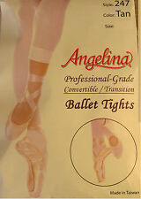 Girls Convertible Ballet Tights Professional Grade  Costume Dance (247)