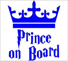 Personalize PRINCE ON BOARD decal sticker vinyl art vehicle car PB1