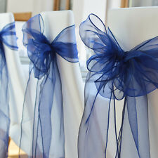 100PCS Organza Chair Sashes Wedding Party Banquet Reception Cover Venue Decor