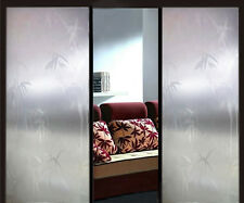 "36"" x 5' 10' 16' Privacy Decorative Frosted Glass Window Film Lucky Bamboo"