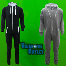 ALL IN ONE PIECE UNISEX MENS WOMENS JUMPSUIT HOODED ZIP ONESIE PLAYSUIT ADULTS