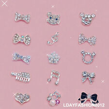 100PCS 3D Alloy Metal Rhinestones Nail Art Decoration For Cell Phone Case cover