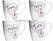 PERSONALISED Bone China Message Name Mug Gift for MOTHERS Christmas Birthday Her