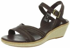 Women's Timberland Earthkeepers Whittier Jute Wrapped Wedge Sandal Brown 8259R