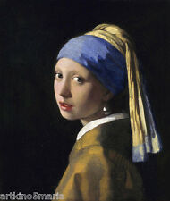 JOHANNES VERMEER GIRL WITH THE PEARL EARRING,CAMERA OBSCURA ART PRINT CANVAS