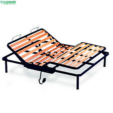 Iron Electric Beech Slatted Bed Base KIWI for Mattress Available in Every Size