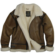 Alpha Industries B-3 Sheepskin Sherpa Bomber Jacket Classic - Brown