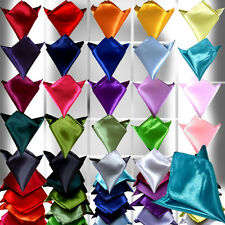 Men's Wedding Solid Color Hanky Pocket Square Polyester Hankerchief Napkin