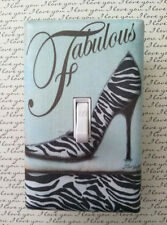 Fabulous Vintage Zebra High Heel Custom Light Switch Plate Cover Choose Size