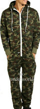 ADULTS MENS CAMOUFLAGE ARMY PRINT ONESIE HOODED JUMPSUIT ALL IN ONE S M L XL