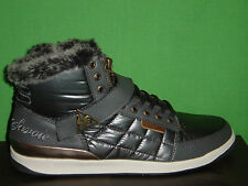 WOMENS LE COQ SPORTIF DIAMOND NYLON MID FUR  HIGH TOP TRAINERS/SHOES 026