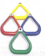 COMMERCIAL Aluminum TRIANGLE Trapeze COATED Ring PAIR Swing Set monkey bar A185