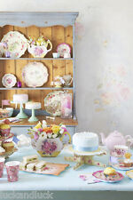 Alice in Wonderland Vintage Floral Tea Party Ware Bunting Tags Plates Teapot