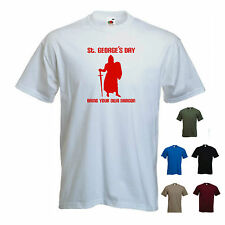 'St. George's Day, Bring your own Dragon' mens St Georges/  England T-shirt