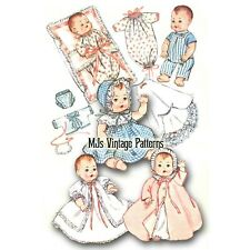 "Vintage 1950s Doll Clothes Pattern ~ 11"" 12"" Tiny Tears, Betsy Wetsy, Dy Dee"