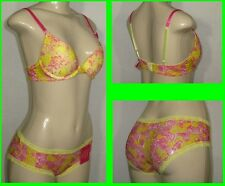 New 2756 Padded Deep Scoop push-up Bra and matching Panty Set Floral Lace deisgn