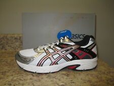 ASICS Mens Gel Strike 3 Sneakers T1G3N White/Platinum/Red   New with Box