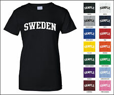Country of Sweden College Letter Woman's T-shirt