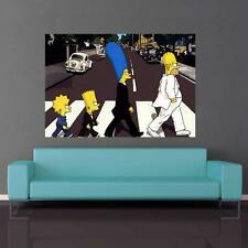 THE SIMPSONS BEATLES SPOOF POSTER ABBEY ROAD A1/A2 WALL ART GI_541