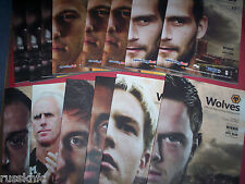 WOLVES HOME PROGRAMMES 2011/12