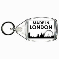 Made In London Novelty Plastic Key Ring - Choice of Size UK England Cockney