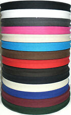 "COTTON BIAS BINDING TAPE FOLDED, 1/2"" 33MTR ROLL, VARIOUS COLOURS, FREE P&P"