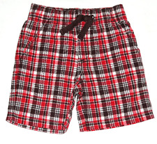NEW GYMBOREE Rescue Team Plaid Red Brown Blue Plaid Patchwork Shorts 5 6 NWT