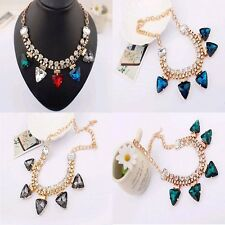 New statement  fashion Party jewelry Chain Crystal Necklace choker Necklace