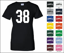 Number 38 Thirty Eight Sports Number Woman's Jersey T-shirt Front Print