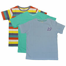 Pack of 3 Boys T-Shirts South Island Tee Tshirt Cotton Plain 4-5 9-10 Years NEW