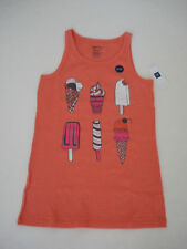 GAP KIDS Girls Peach Ice Cream Tank Top Size M,L,XL NWT