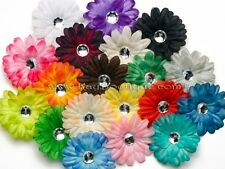 Mini Crafting Daisy Flower Heads with Crystal HUGE Color Selection!  REDUCED $!