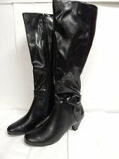 """Aerosoles """"Infamous"""" Boots Black Synthetic Upper New with Box"""