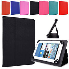 Universal Adjustable Tablet Clamping Folding Protective Case Cover w/ Stand