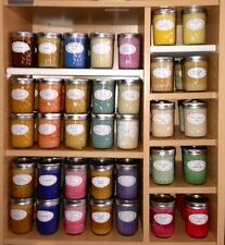 Assorted Holiday Scented Soy Wax Candles in 8oz Jelly Jar = Highly Scented