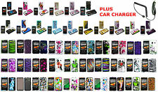 Car Charger+Designed Skin Hard Case For SAMSUNG GALAXY PREVAIL SPH-M820 Phone
