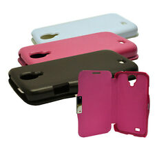 3 Colour Ultra Slim Wallet Flip Case Cover For Samsung Galaxy S4 I9500 I9505