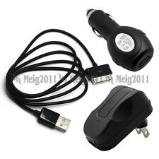 "USB Cable+Car+AC Charger for Samsung Galaxy Tab 7"" 7.0 Plus N GT-P6201 GT-P6211"
