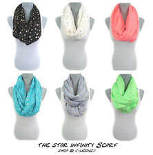 STAR INFINITY SCARF lightweight eternity colorful spring summer designer trendy
