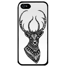 Cover for Iphone 4 4S Deer head Ornate Stag pattern VTG elk retro art Phone case