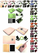 1 Plain Leather 360 Degree Rotating Swivel Stand Case For Apple iPad 2&3 Device