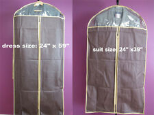 Garment Storage Bags Non-Woven w/Clear Window Hanging Suit Coat Dress Gown NEW!
