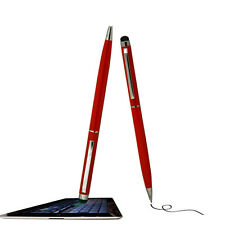 2 Use Red Touch Screen Capacitive Stylus / Pen For Samsung Galaxy Ace and More