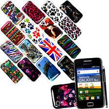 FOR SAMSUNG GALAXY ACE S5830 STYLISH PRINTED HARD SHELL CASE COVER + FREE STYLUS