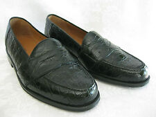 New Magnanni Black Brown Crocodile Leather Casual Dress Slip Op Loafers 8M 8.5M
