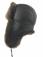 Real Shearling Sheepskin Russian Ushanka Aviator Trapper - Zavelio Fur Hat