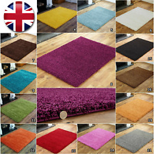 SMALL - EXTRA LARGE MODERN 5cm THICK PILE MULTI COLOURED NON SHED SHAGGY RUGS
