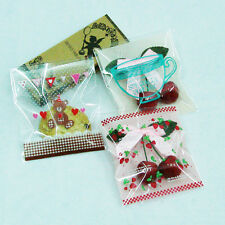 11 designs peel N seal cello cellophane cookie candy treat bags party birthday